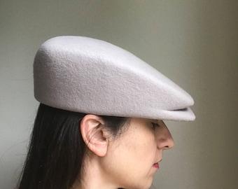 Womens and Mens Wool Felt Square Hat, Casual Hat, Futuristic Hat, Design Hat, Winter hat, Visor Felt Hat