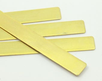 Diy Brass Bracelet, 5 Raw Brass Bracelet Stamping Blanks, Bangles (145x10x0.80mm) D250