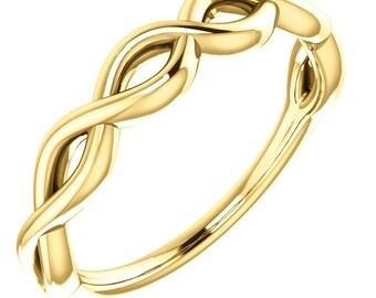 Infinity-Inspired Band  10K Gold /14K Gold/ 18K Gold