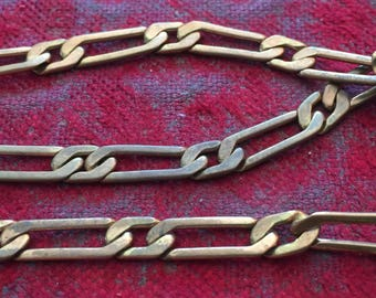 Nice Patina Vintage Solid Brass Chain Sections