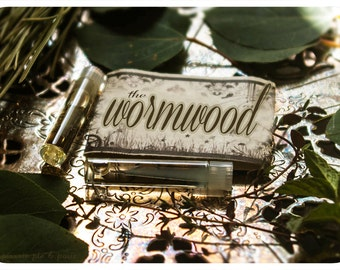 the wormwood - natural perfume sampler - primary notes: anise, sweet pea blossom and mint - apothecary perfume with victorian charm