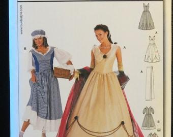 Misses' Historical Costume Pattern / Empress & Washerwoman Dresses / Burda Style 2479 / Size 10,12,14,16,18,20 / Uncut