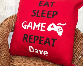 Personalised Gaming Cushion COVER ONLY, Scatter Cushion, Teen Gift, Gaming Gift, UK