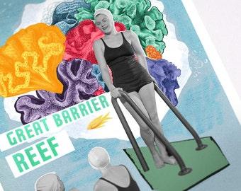 Displays vintage of the great barrier reef