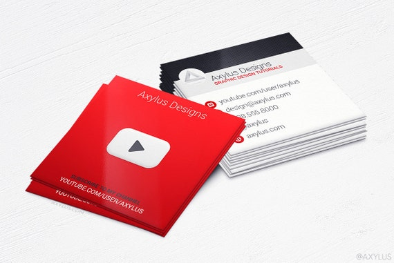 Youtube business cards social media design and printing reheart Image collections