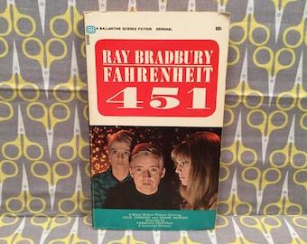 Fahrenheit 451 by Ray Bradbury paperback book vintage