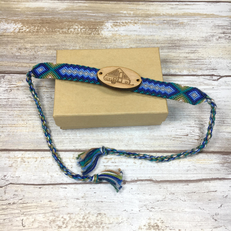 A-frame Pop Up Camper Braided Bracelet, Camper Jewelry, A-frame Glamping,  Hard Sided Camper, Camper Bracelet for Girls, A-frame Jewelry, Fun