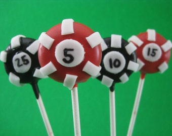 Poker Chip Cake Pops