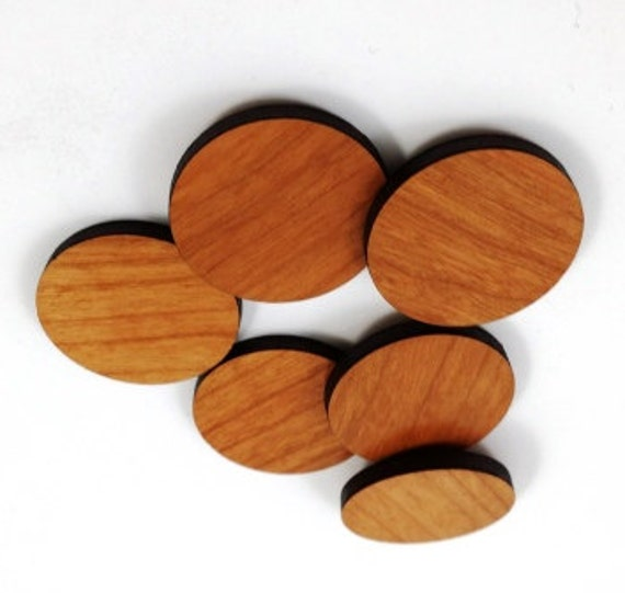 Laser Cut Supplies-8 Pieces.Circle Charms - Laser Cut Wood Circles -Earring Supplies-Little Laser Lab Sustainable Wood Products