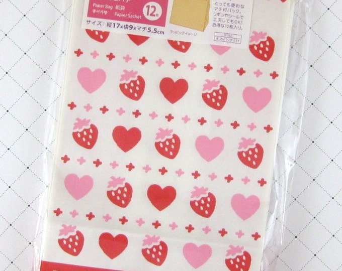 Cute Strawberry and Heart Gift Bags