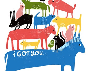 I Got You Art Print - Lisa Congdon