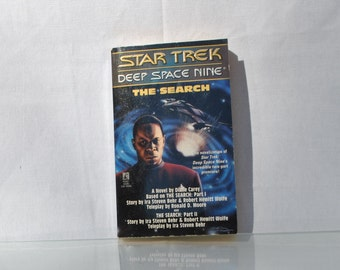 Vintage Paperback Book Star Trek Deep Space Nine The Search 1994 - Paramount - Pocket Books - The Dominion - Sisko - Bajor - Romulans