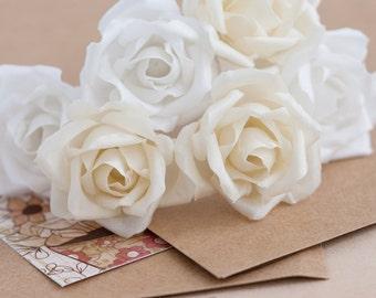 71 Silk roses hair, Ivory silk roses, Wedding silk flower bobby pins, Silk roses for hair, Bridal silk roses, Silk roses clips, Hair piece.