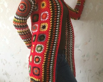 ON SALE - 10% OFF Granny Square Crochet Cardigan