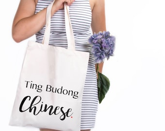 Ting budding tote bag