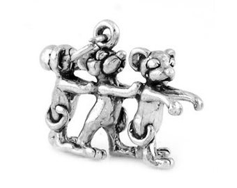 Sterling Silver Three Blind Mice Charm (3d Charm)