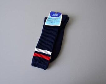 Pair of vintage tennis socks made in France / 80s sport socks