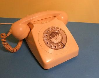 Vintage Rotary Telephone Cream Retro Style Phone Working