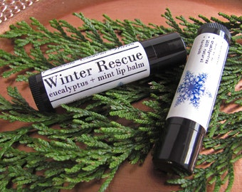 All Natural Winter Rescue Eucalyptus + Mint Lip Balm