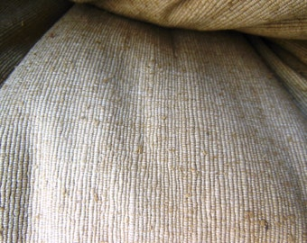 Thick Natural Raw Silk Fabric ~