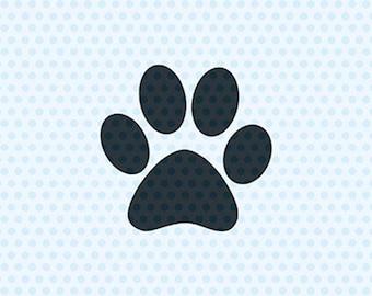 Paw Print Svg, Dog Svg, Svg Files, Cricut Cut Files, Silhouette Cut Files