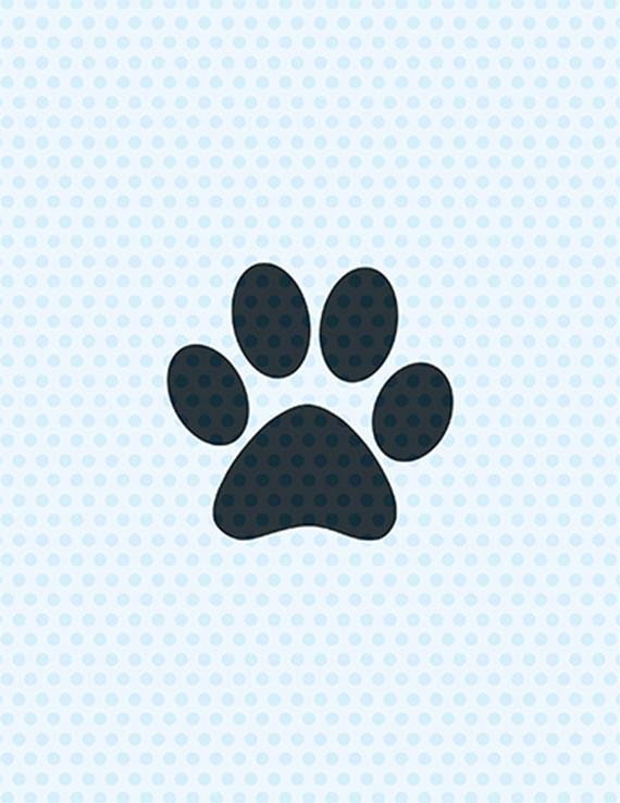 Paw Print Svg Dog Svg Svg Files Cricut Cut Files