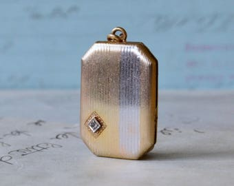 Two Tone 12K GF Vintage Locket