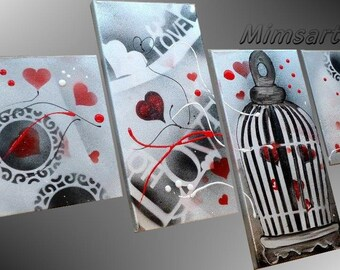 Abstract painting love in CAGE Valentine
