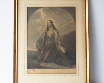Vintage Print / All Night Prayers / Simple Gold Frame