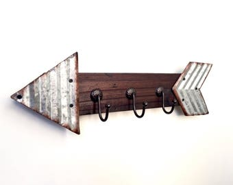 Key Holder for Wall, Key Organizer, Key Rack, Key Hooks, Industrial Wall Decor, Rustic Key Holder