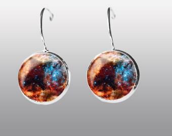 Space Earrings. Universe Earrings. Nebula  Galaxy dangle Earrings. Space Post Earrings Gift for Women and Girls.