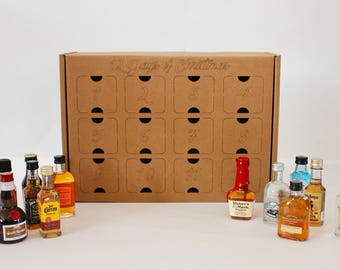 12 Days of Christmas Box for Nips, Miniatures, Airplane liquor bottles