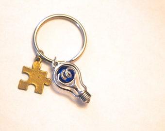 Light It Up Blue Key Chain Autism/Asperger's