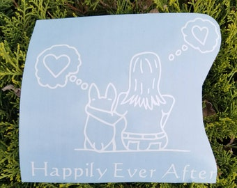 SALE-Happily Ever After car decal