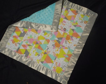 Floral Geometric Quilted Security Blanket