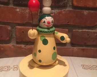 Clown Lamp -  Wooden - w/ Balloon