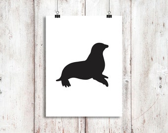 SEAL Art - Digital Download, Printable 8x10 Decor & Gift Prints