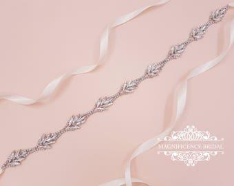 Bridal sash, bridesmaids sash, thin bridal belt, bridal belt, thin bridal sash, wedding belt, skinny belt, bridal headband, sash belt, NELLY