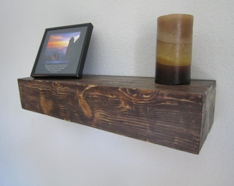 Rustic Floating Shelf, Floating Shelves, Real wood Shelves, Reclaimed Wood