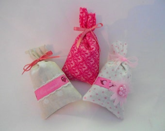 3 mini Lavender sachets of Provence Collection chicks Bucolics