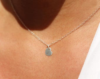 Mother's day gift - Tiny heart necklace - Sterling silver chain necklace -romantic necklace -bridesmaid jewels -valentines day gift for her
