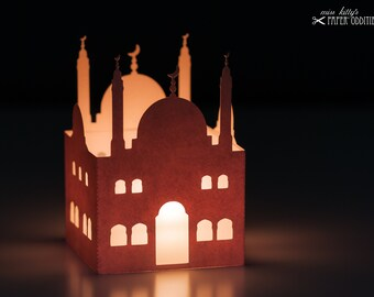 Wind light handicraft set »Mosque«