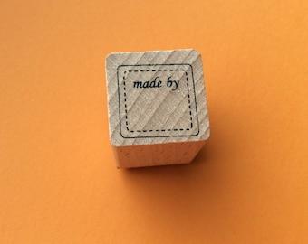"Stamp 2 cm * 2 cm * 3 cm ""made by"""