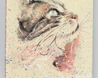 Notebook watercolor cat 14 X 20.5 cm