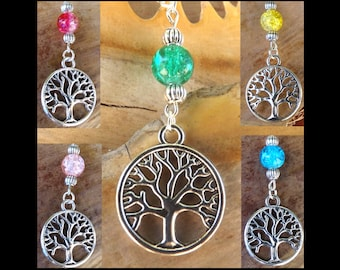Tree of life necklace, silver, ethnic, Bohemian, tree of life pendant necklace