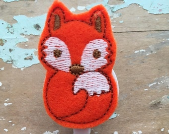 Fox ID badge reel holder retractable clip