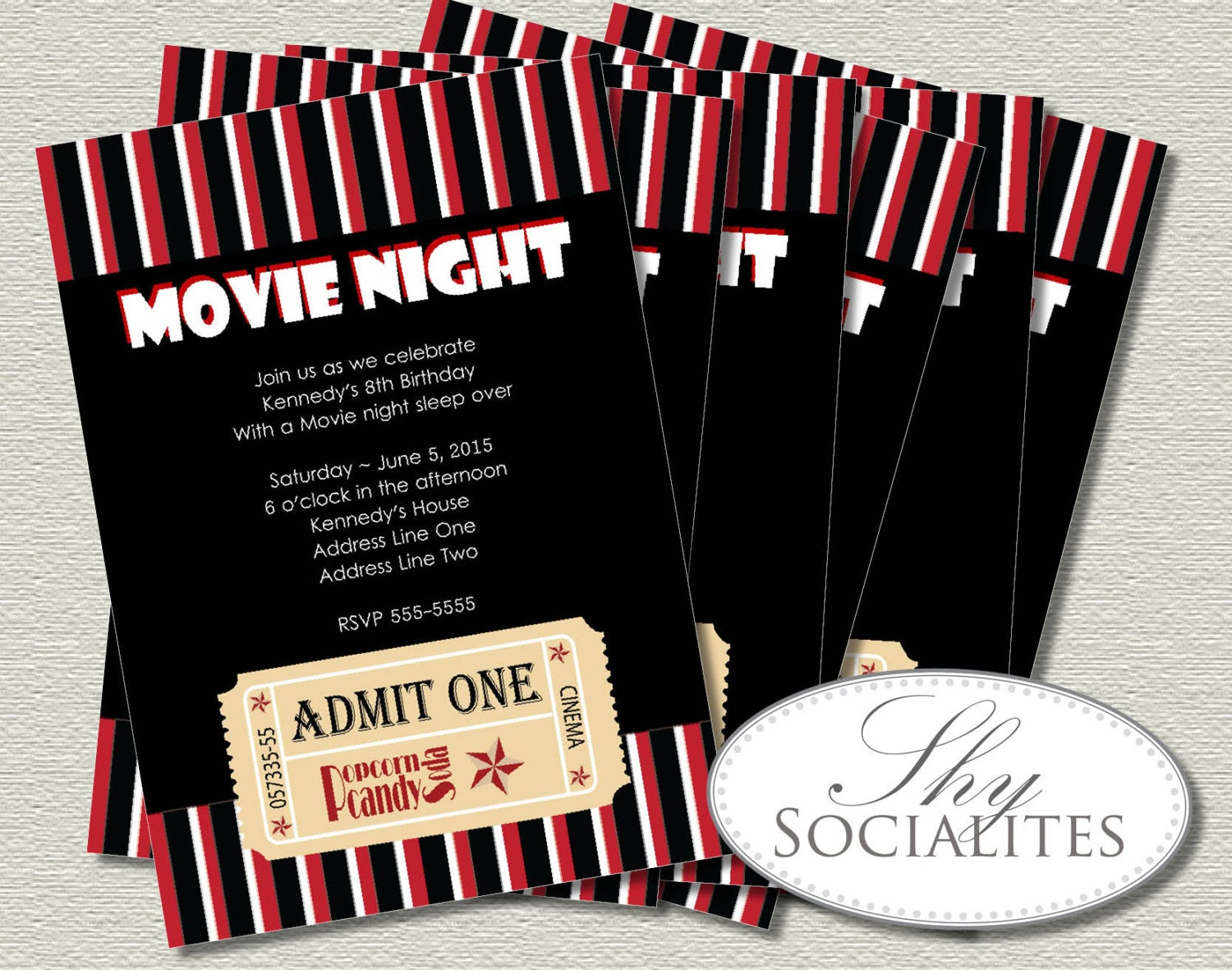 Movie ticket invitation ticket invitation movie night zoom filmwisefo