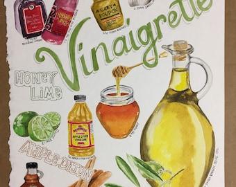 Vinaigrette Dressing Recipe Illustration