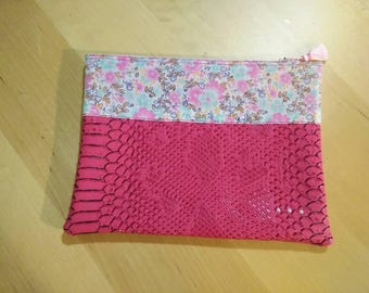Hot pink pouch