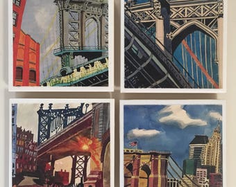 Mostly manhattan bridge coasters